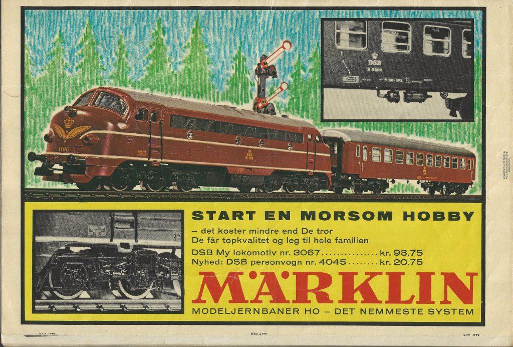 I 1966 er Märklins danske nyhed katalognummer 4045 DSB personvogn.